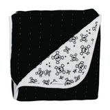 Organic Cotton Hand-Quilted Blanket, Tossed Skulls/Black