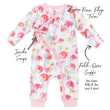 Organic Cotton Kimono Coverall, Rose Blossom Featured