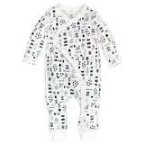 Organic Cotton Kimono Coverall, Pattern Play