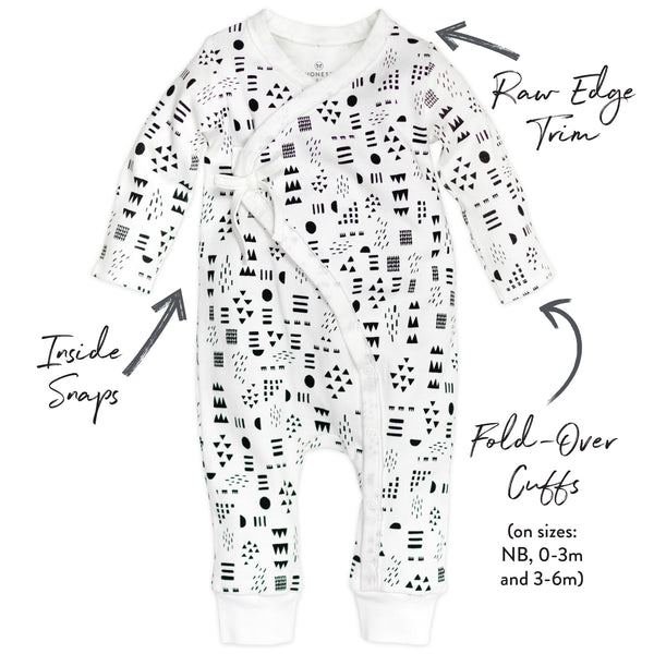 Organic Cotton Kimono Coverall, Pattern Play Featured
