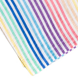 2-Pack Organic Cotton Swaddle Blankets in Gift Box, Rainbow Stripe/Pink