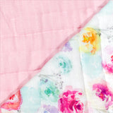 Organic Cotton Hand-Quilted Blanket, Rose Blossom