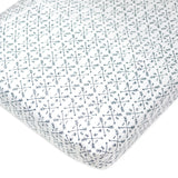 Organic Cotton Fitted Crib Sheet, Compass