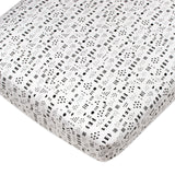 Organic Cotton Fitted Crib Sheet, Pattern Play