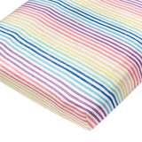 2-Pack Organic Cotton Fitted Crib Sheets, Rainbow Stripe