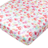 Organic Cotton Fitted Crib Sheet, Rose Blossom