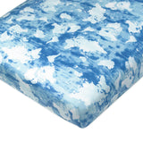 Organic Cotton Fitted Crib Sheet, Watercolor World