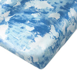 Organic Cotton Changing Pad Cover, Watercolor World