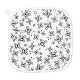 3-Piece Organic Cotton Hooded Towel Set, Tossed Skulls