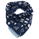 5-Pack Organic Cotton Reversible Bandana Bib Burp Cloths, Panda
