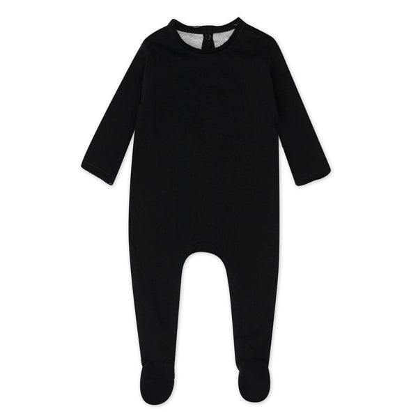 Organic Cotton Union Suit Coverall, Black
