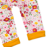 Organic Cotton Turn-Back Cuff Harem Pant, Daisy Burst