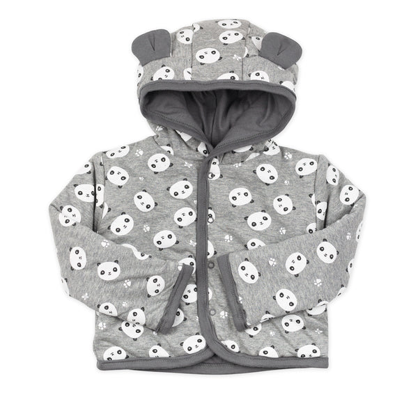 Organic Cotton Reversible Hoodie with Ears, Panda