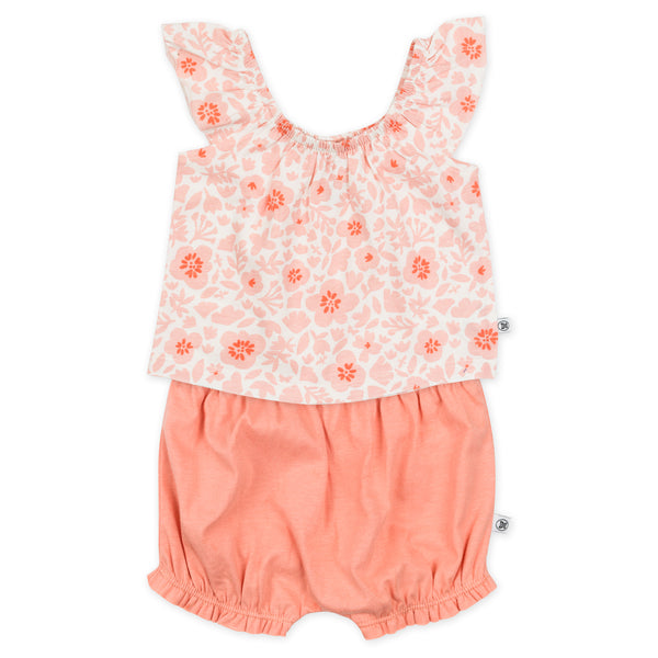 2-Piece Organic Cotton Bloomer and Top Set