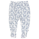 3-Pack Organic Cotton Footed Harem Pants, Compass