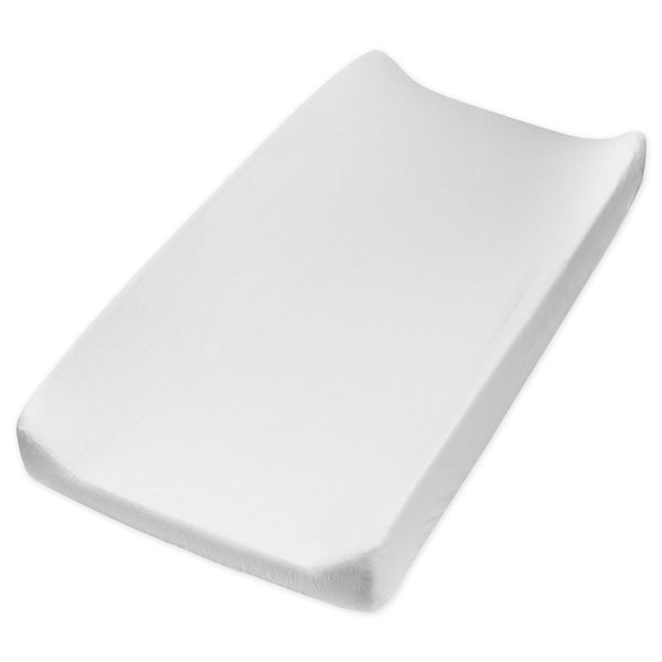 Organic Cotton Changing Pad Cover, Pure White Featured