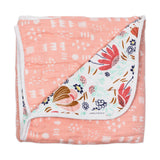 Organic Cotton Hand-Quilted Blanket, Flower Power