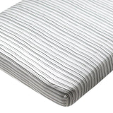2-Pack Organic Cotton Fitted Crib Sheets, Sketchy Stripe