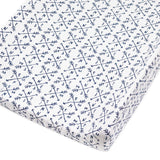 2-Pack Organic Cotton Changing Pad Covers, Compass/Navy
