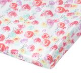2-Pack Organic Cotton Changing Pad Covers, Rose Blossom/Pink