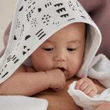 3-Piece Organic Cotton Hooded Towel Set, Pattern Play