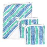 3-Piece Organic Cotton Hooded Towel Set, Dots + Dashes