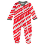 Organic Cotton Holiday Sleep & Plays, Candy Cane