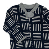Organic Cotton Sleep & Play, Sketchy Square Dark Navy