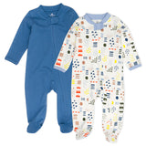 2-Pack Organic Cotton Sleep & Plays, Multi Colored Pattern Play