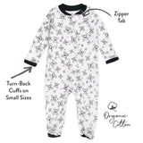 2-Pack Organic Cotton Sleep & Plays, Tossed Skulls/Sketchy Stripe Featured