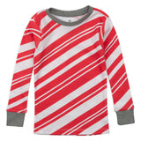 2-Piece Organic Cotton Holiday Pajama, Candy Cane