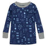 2-Piece Organic Cotton Pajama, Pattern Play Navy