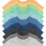 10-Pack Organic Cotton Short Sleeve T-Shirts, Rainbow Boy