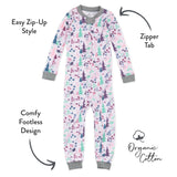 Organic Cotton Snug Fit Footless Pajama, Enchanted Forest Featured