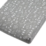Organic Cotton Changing Pad Cover, Pattern Play Gray Heather