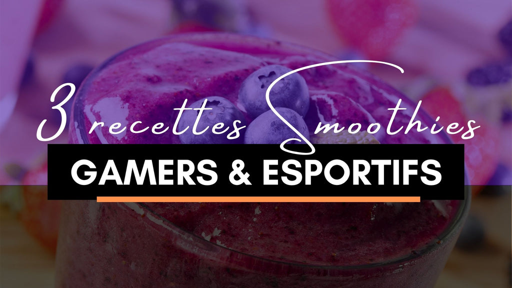 smoothies et jus gamers esportifs