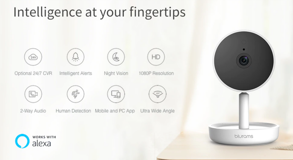 Blurams Home Pro Security Camera,  AI Facial Recognition Camera System - Ople Appliances