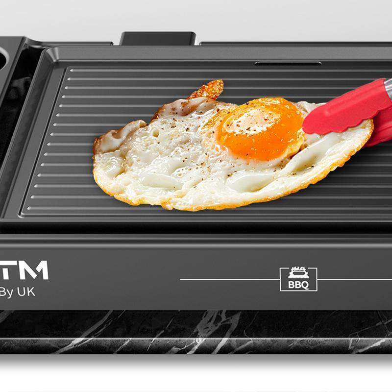 CMTM MG-8003 Electric Grill Home Electric Baking Pan Non Stick Barbecue Machine Shabu Roasting Hot Pot Barbecue Teppanyaki - Ople Appliances