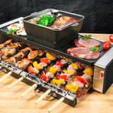 CMTM AU Electric 2 In 1 Hotpot BBQ Oven Smokeless Barbecue Pan Grill Machine Korean BBQ Plate Large Size Round Size - Ople Appliances