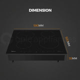 Midea MI60T 6000mm Induction Cooktop 4 Burners 7000W - Ople Appliances