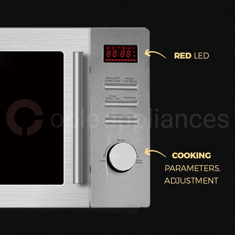 Midea MMW34CS 34L Combi Convection Sliver Digital Microwave Oven - Ople Appliances