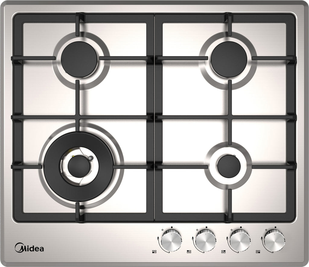 Midea MCG60SS 60cm Stainless Steel Gas Cooktop - Ople Appliances