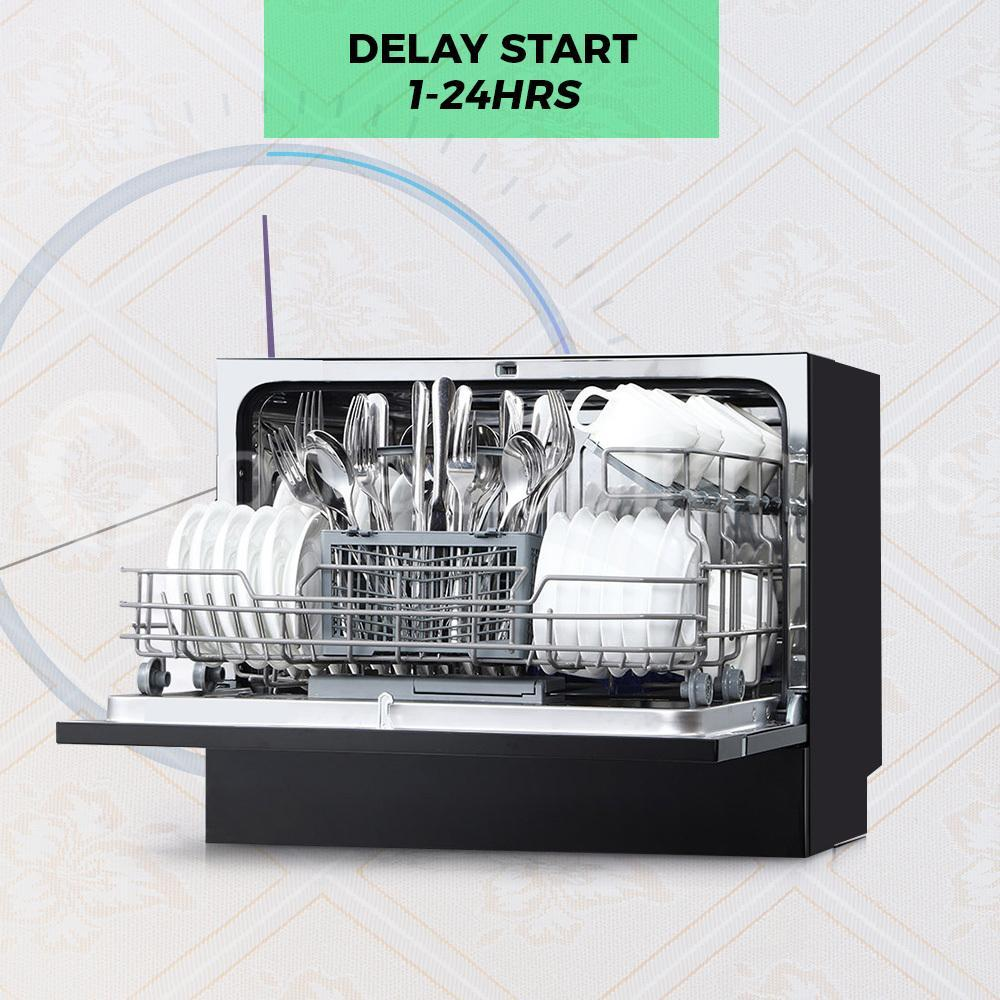 Midea MDWB1BL Countertop Dishwasher Black - Ople Appliances