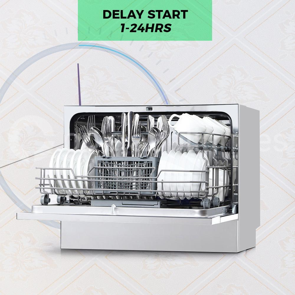Midea MDWB1SS Countertop Dishwasher Silver - Ople Appliances