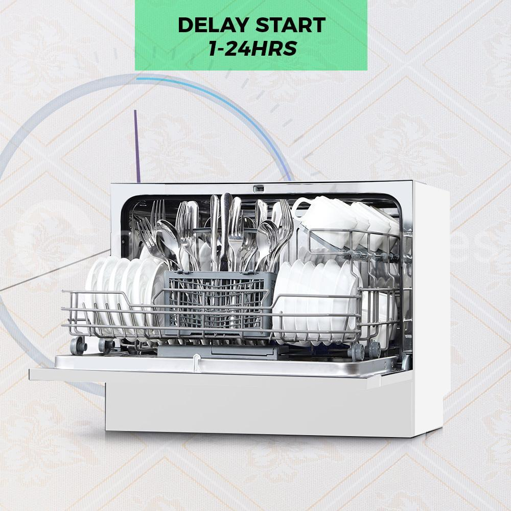 Midea MDWB1W Countertop Dishwasher White - Ople Appliances