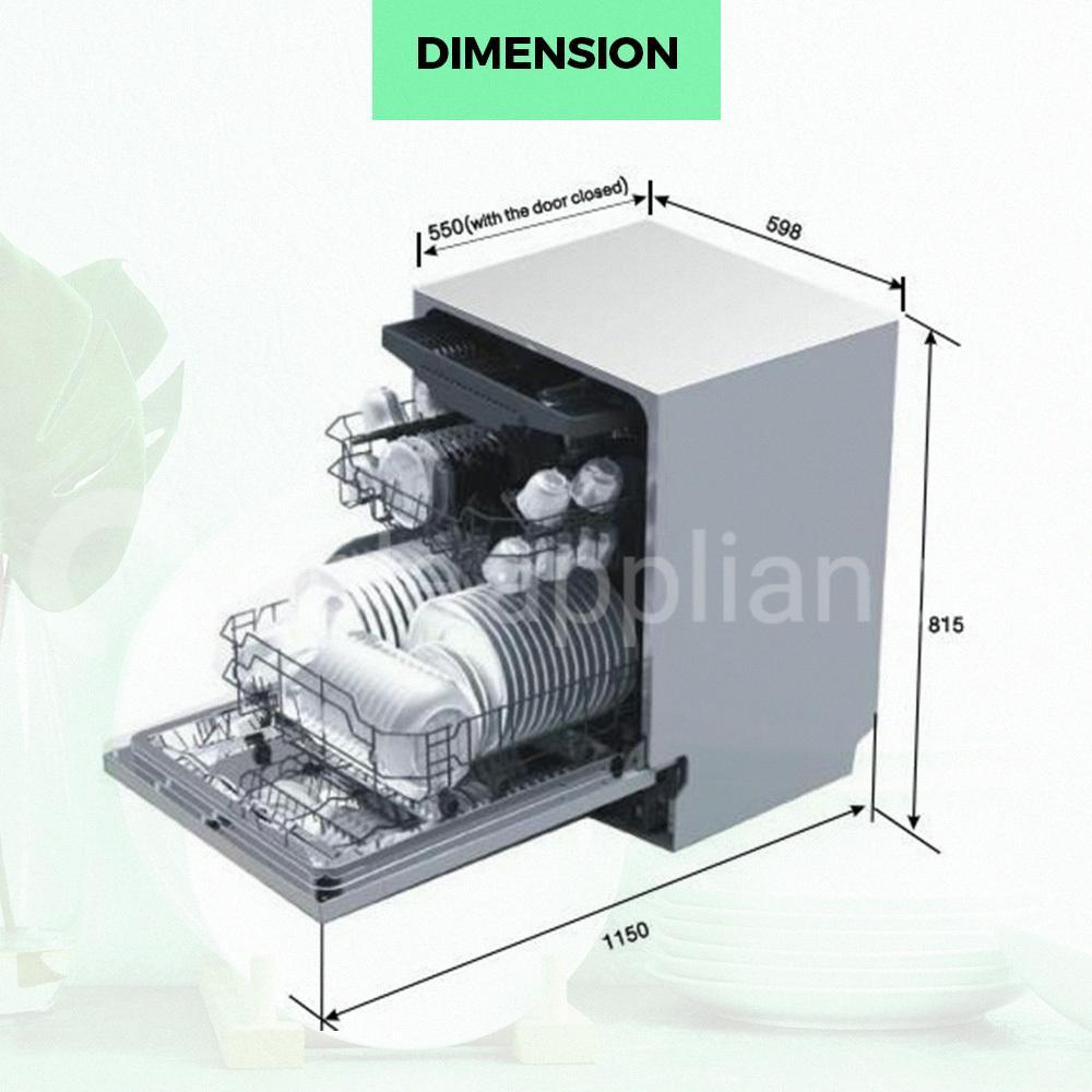 Midea MDWISS 60cm Fully Integrated Dishwasher - Ople Appliances
