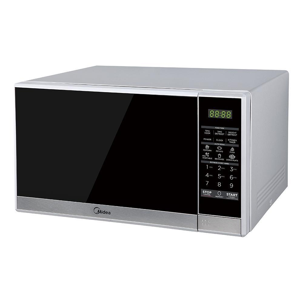 Midea MMW20S 20L Solo Digital Touch Microwave Oven Silver - Ople Appliances