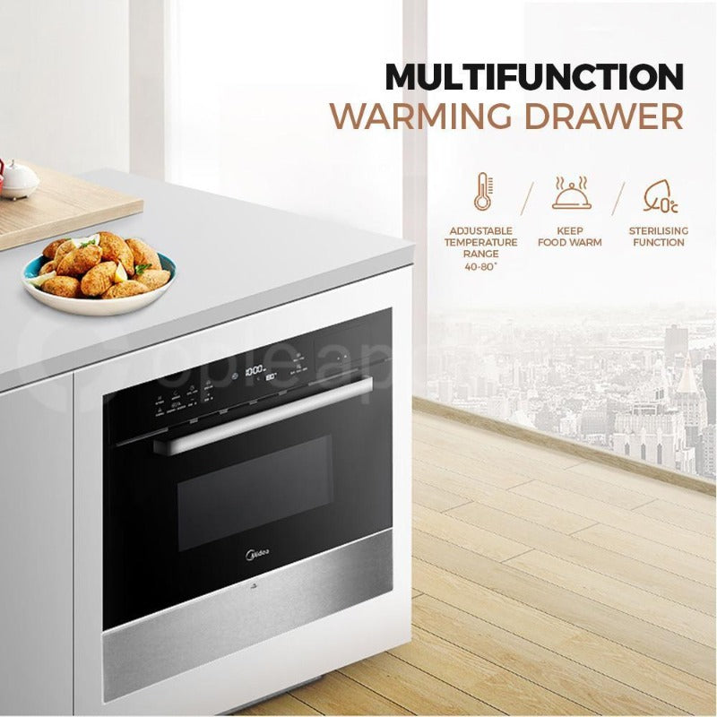 Midea MWDSS Warming Drawer Silver - Ople Appliances