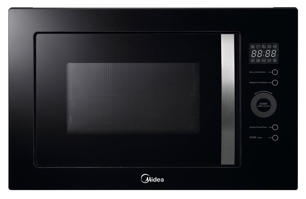 Midea MMWBI25B Built-in 25L Frameless MWO with grill Black - Ople Appliances