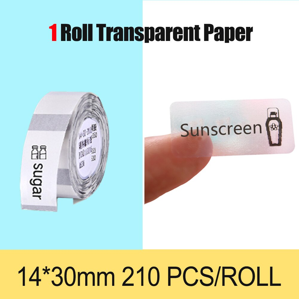 NiiMbot Thermal transparent paper waterproof oil proof White Label Paper For D11 Portable Thermal Label Printer